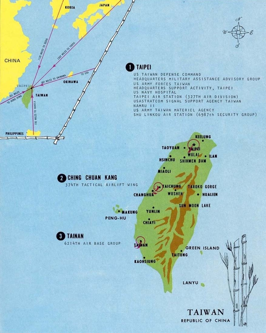 Shulinkou Volume I - Map us milittary bases opened